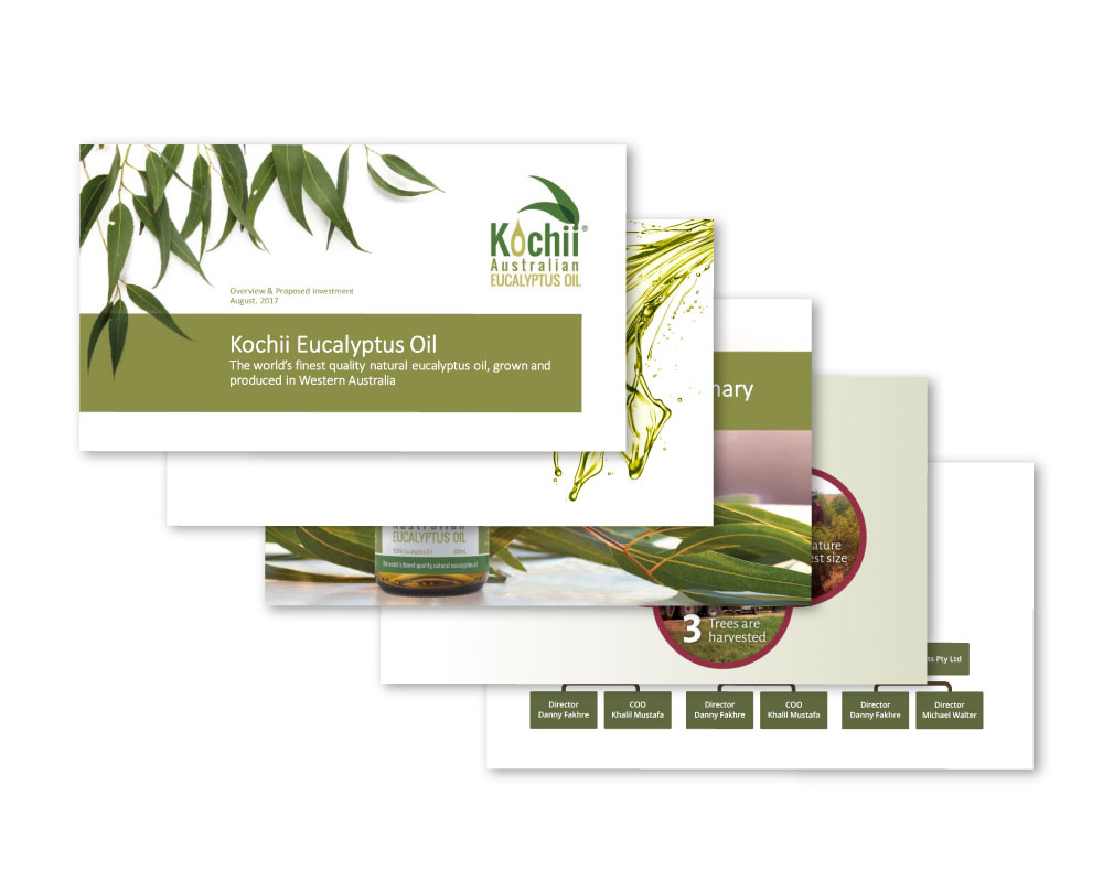 Kochii Eucalyptus Oil layout designs